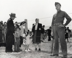 Japanese Americans are rounded up and sent to internment camps