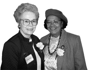 Judge Mercedes Deiz with Oregon Supreme Court Justice Betty Roberts
