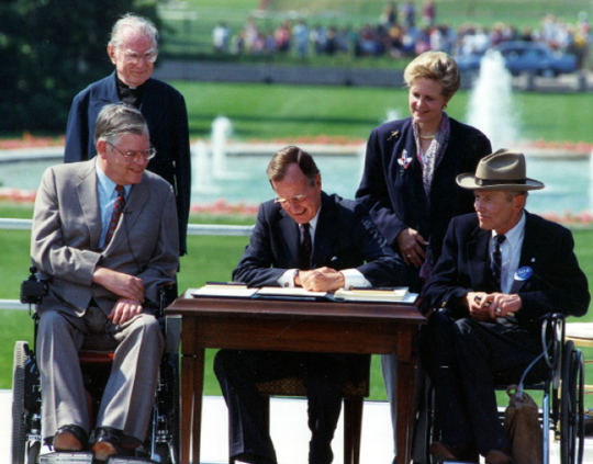 George Bush signing ADA