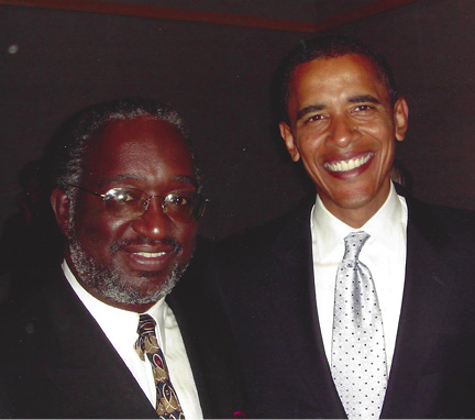 Gudger with President Obama